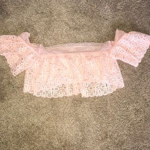 Never worn! NWOT Pale pink lace Bralette